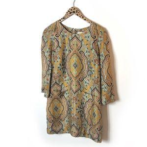JCREW Collection paisley shift dress Sz 2